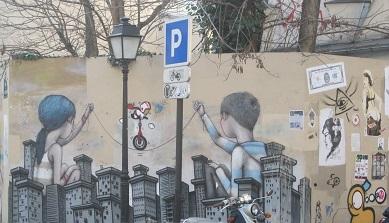 Fresque street art Butte aux cailles TLM