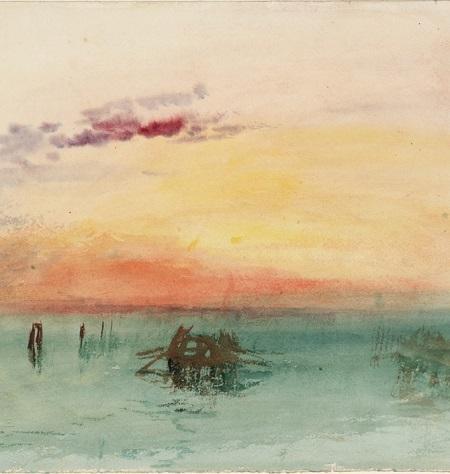 2020 08 Turner Jacquemart André Venise Vue sur la lagune au coucher du soleil1840 TLM