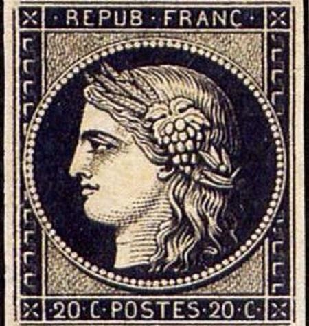 le-premier-timbre-francais Cérès en 1849 TLM