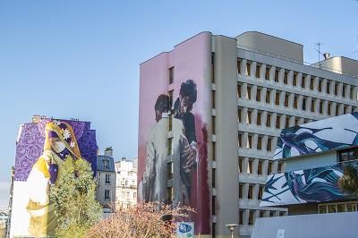 Street art 3 oeuvres bd Vincent Auriol Elo TLM