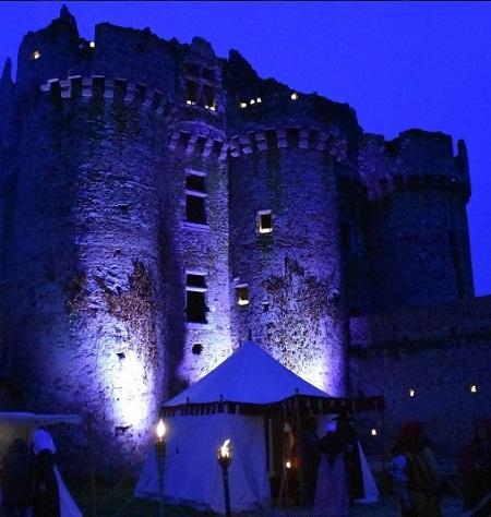 Chateau de l Ebaupinay nuit TLM