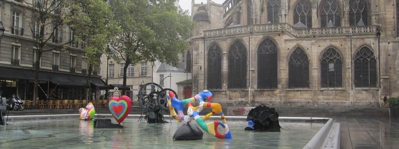 Pompidou fontaine Saint Phalle